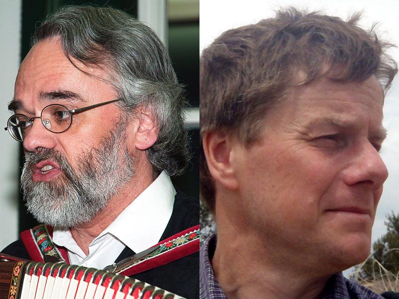 Krimiautor Hardy Pundt (rechts) und Musiker Stefan em Huisken (links) tun sich zusammen.