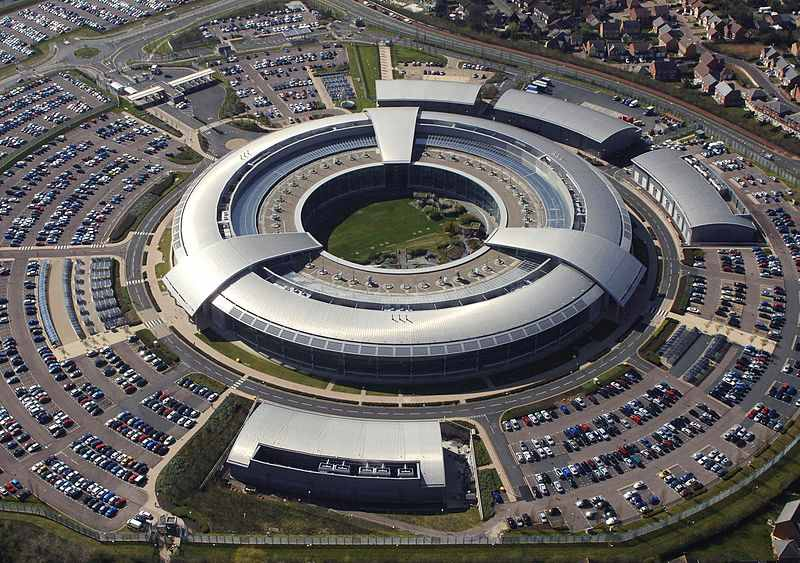 Luftaufnahme des Government Communications Headquarters (GCHQ) in Cheltenham, Gloucestershire. (Foto: Britisches Verteidigungsministerium)