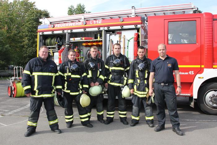 v. l.: Timo Klingenborg, Timo Frodermann, Frank Wäcken, Aike Hausberg, Stefan Schröder und Thomas Weege (Foto: Feuerwehr Norden)