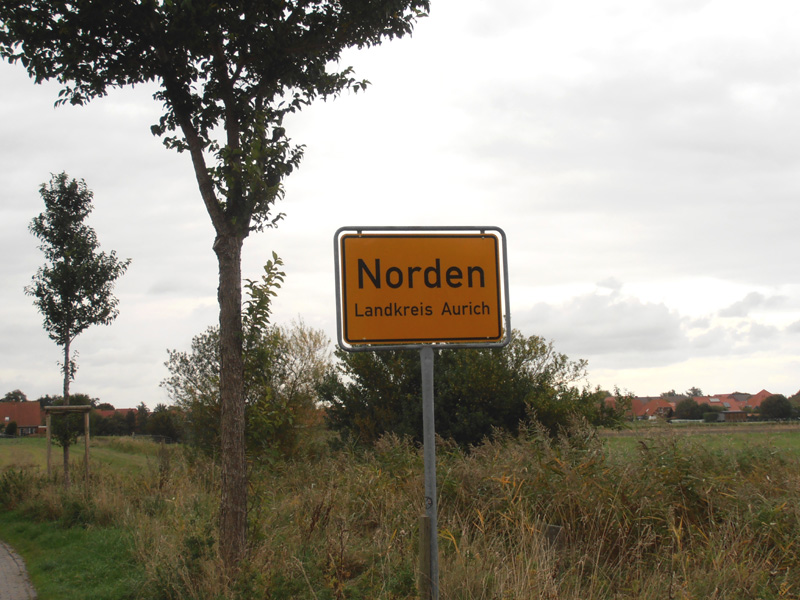 Ortsschild Norden (Foto: ts / cc-by-sa)
