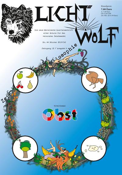 """Lichtwolf Nr. 44 (""""Obst"""") ist als Paperback oder als E-Book (Kindle und epub) erhältlich."""
