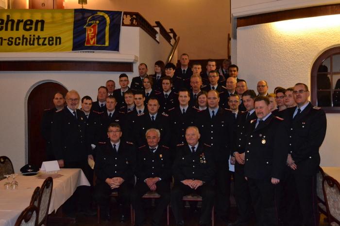Auf der 127. Jahresdienstversammlung der Feuerwehr Norden standen auch wieder viele Ehrungen auf der Tagesordnung. (Foto: Oliver Prigge)