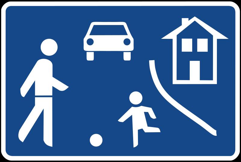 Die richtige Verhaltensweise innerhalb verkehrsberuhigter Bereiche ist vielen Verkehrsteilnehmern nicht klar.