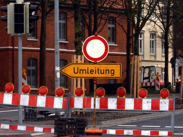 Umleitung (Foto: ts / cc-by-sa)
