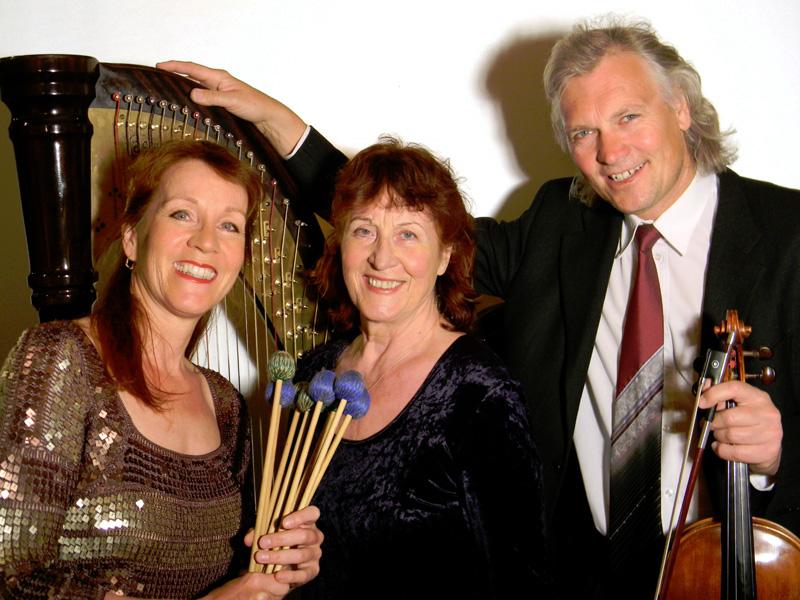 Trio TriColore mit Marimbaphon, Harfe und Viola am 21.05.2014 im Bürgerhaus Norden. (Foto: Bürgerstiftung Norden)