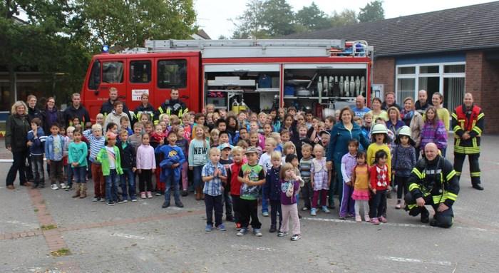 Große Aufregung herrschte am Mittwochvormittag an der Grundschule in Norddeich. (Foto: S. Kleen/GS Norddeich)