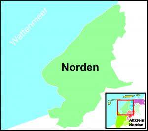 Die Stadt Norden mit Norddeich und dem Norderland